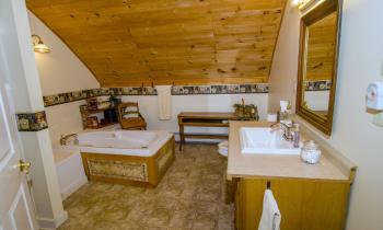 Private bath plus Jacuzzi