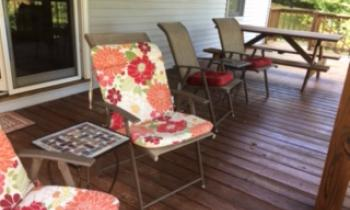 Chairs on outside deck